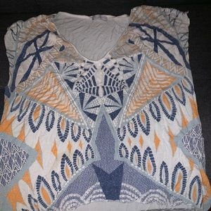 Zara - Colorful Stretchy Shirt - Size Small